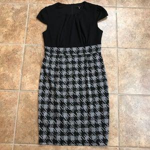 Tiana B Professional Black and Gray Dress - Size 8